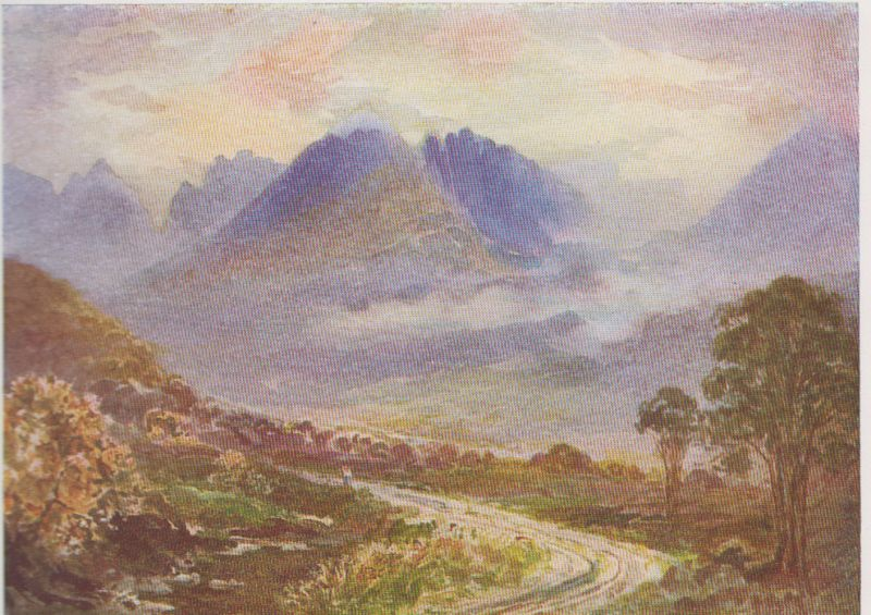 Painting of An Teallach mountain