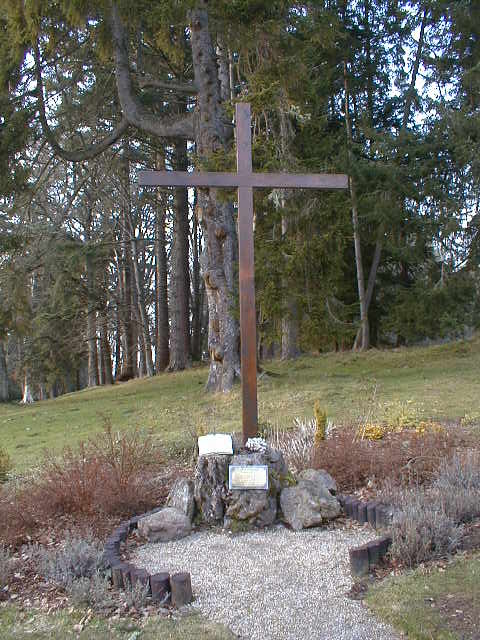The Cross commemorating the Millennium, in the grounds of Ardross Castle.