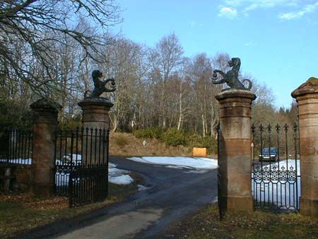 Ardross Castle entrance