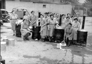 WRVS soup kitchen in the Old Academy grounds c.1950