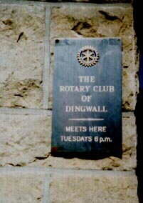 The Rotary Club of Dingwall sign