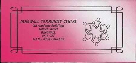 Dingwall Community Centre sign