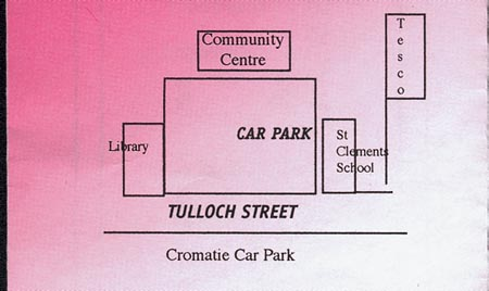 Layout plan showing location of Dingwall Community Centre