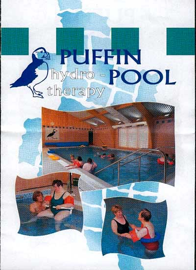 The Puffin Hydrotherapy Pool sign