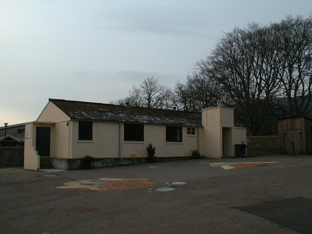 The playground and hut.