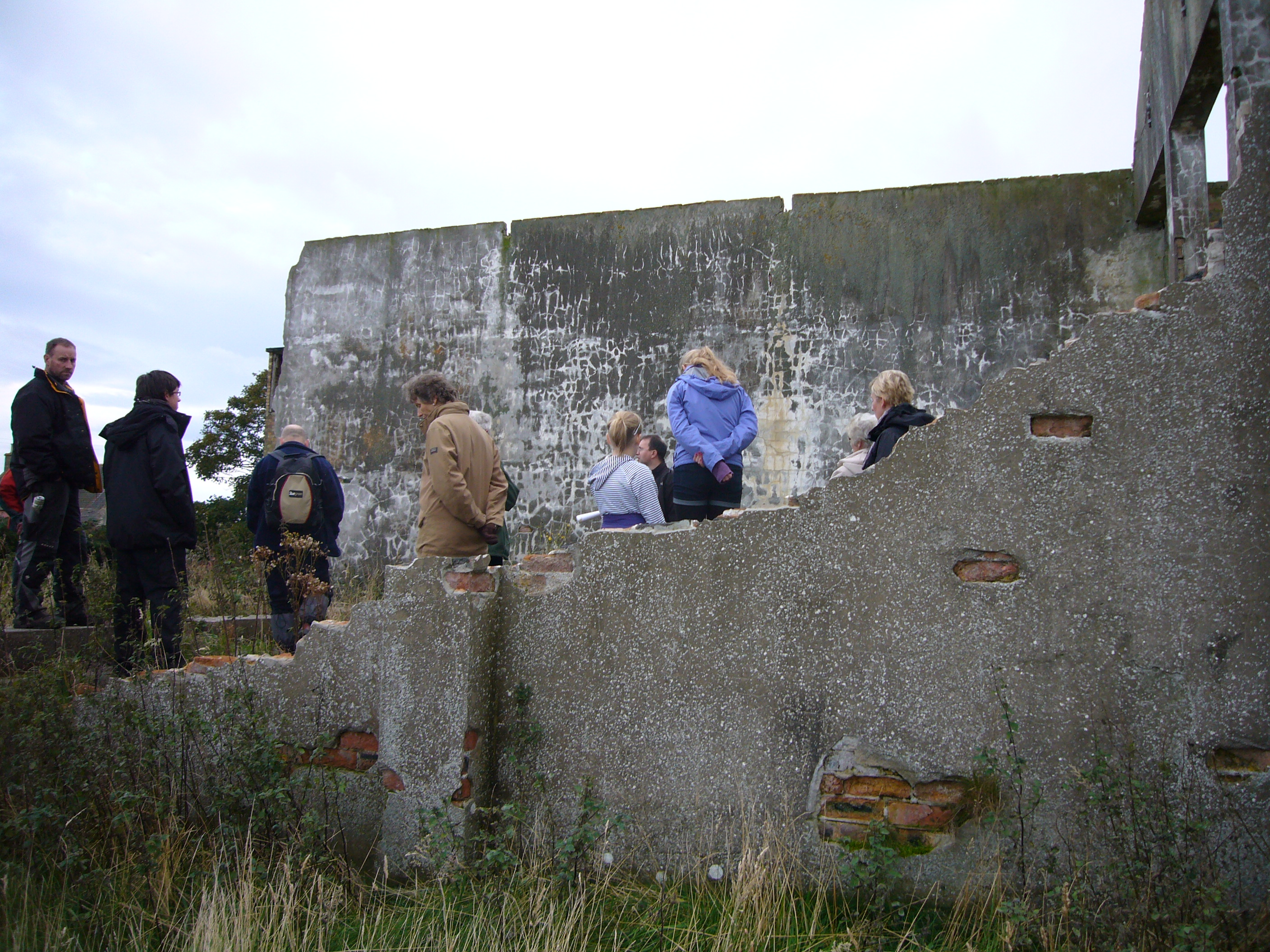 Remains of the cinema on Fearn airfield