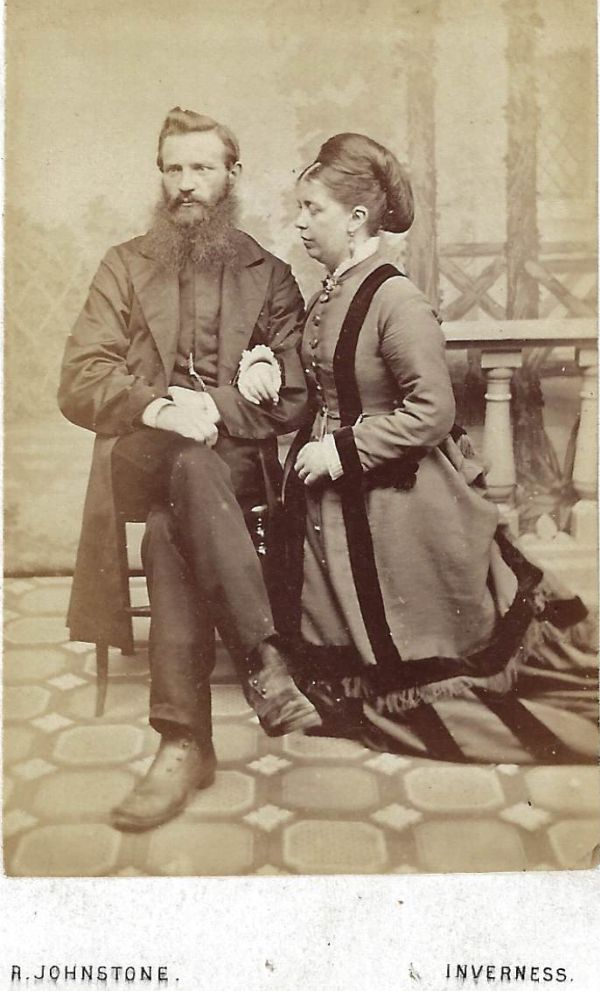 Alexander Ross and his wife Jane Innes, taken c.1873.