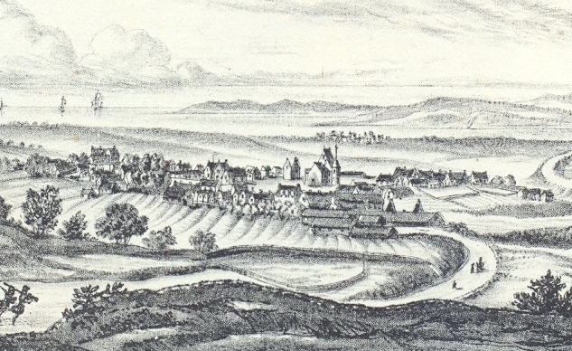 An engraving of Fortrose c.1700s.