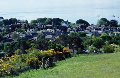 View of Fortrose taken from hill above the village.