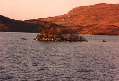 The Crannog in Loch Tollie