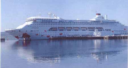 Cruise Ship docked at Invergordon