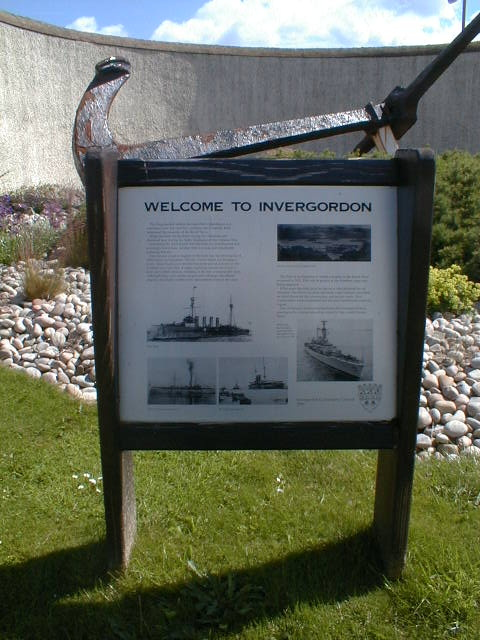 Interpretative Panel at entrance to Invergordon
