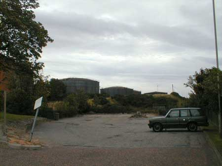 The oil storage tanks are a relic of Invergordon's  role in both World Wars.