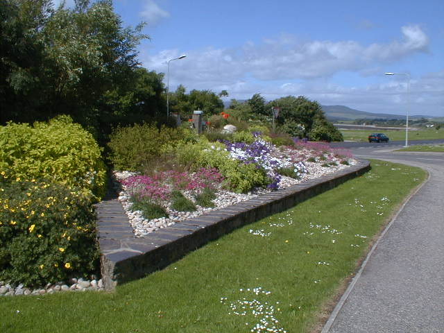 Flower beds at the west end of Invergordon High Street