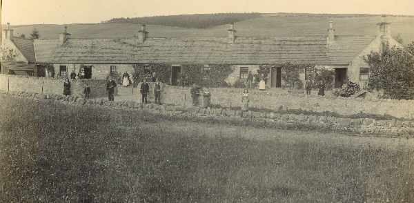 Lemlair Farm cottages, early 1900s.