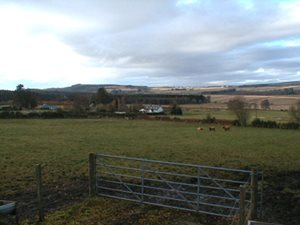 The view looking west from the B9161 road