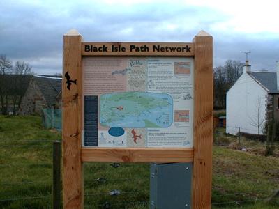 The Black Isle Path Network sign