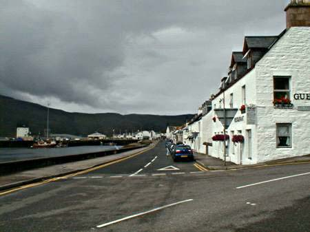 Shore Street and Ullapool harbour