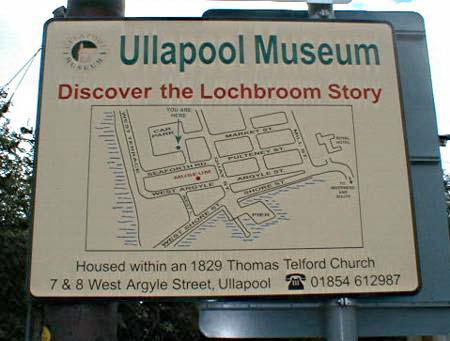 Ullapool Museum Sign
