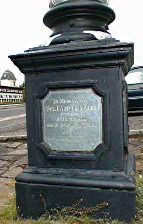 ULLAPOOL VILLAGE CLOCK - plaque