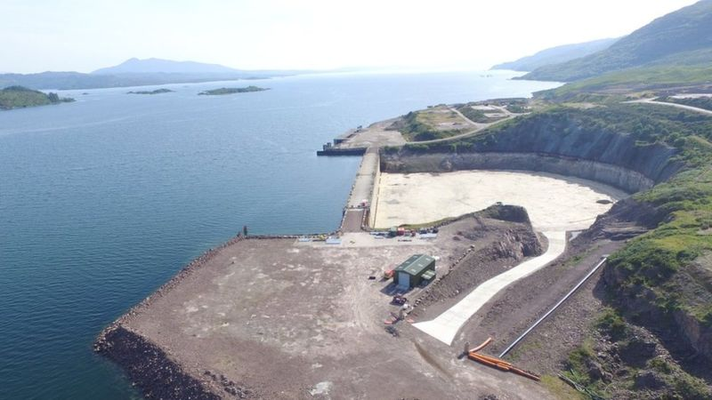 The dry dock at Kishorn