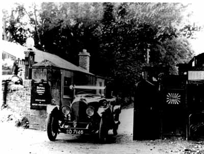 The entrance to Frank's garage, opposite the Tollhouse.