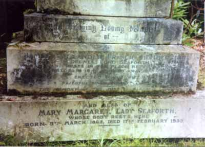 The grave of Lord and Lady Seaforth