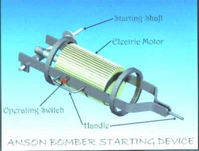 Starting device for Anson bomber.