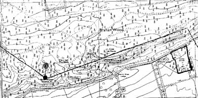 Map showing location of the camp