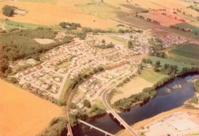 Aerial View of Maryburgh and River Conon