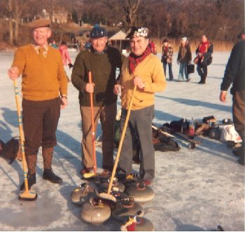 Avoch Curling Club members on the ice