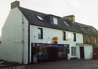 Maryburgh shop showing Post Office sign but this facility ceased in July 2008.