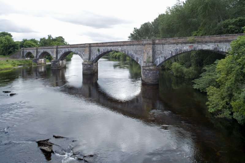 The bridge in the 21st century, looking upstream.