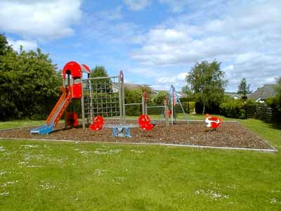 The play area situated between Rosshill Drive and Stuarthill Drive.