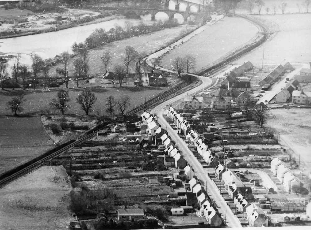 Aerial photograph of Maryburgh taken on 16 August 1963