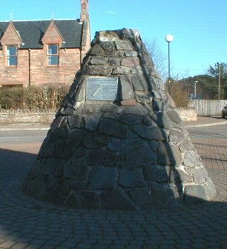 Harper's Cairn, at the entrance to the car park in the centre of Muir of Ord.