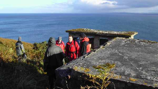 Observation post overlooking Moray Firth.