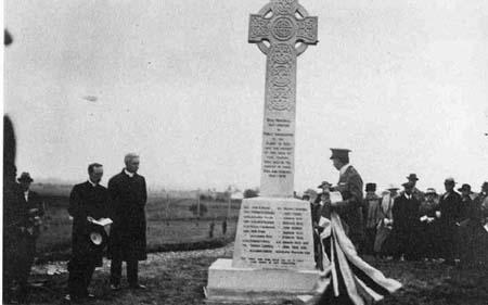 Unveiling of Nigg War Memorial.