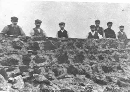Workmen re-building Dunskaith House, c1906