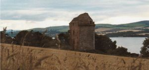 Castle Craig with Cromarty Firth in the background.