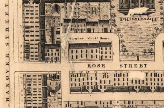 Map showing Rose Street