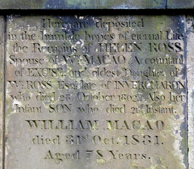 William Macao grave