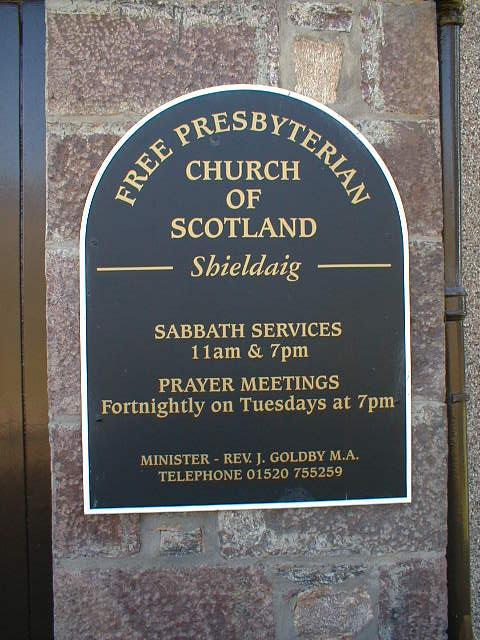 The Free Presbyterian Church sign