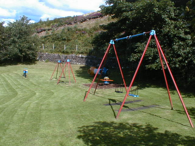 Play area in Shieldaig village.