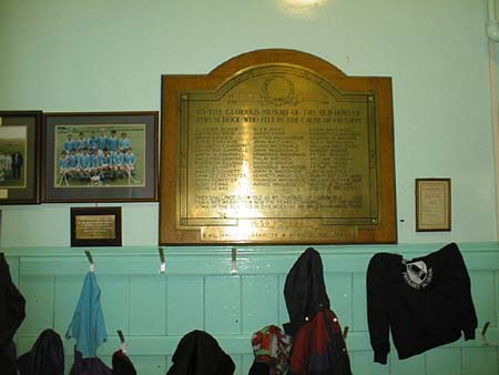 Memorial plaque of Fodderty Primary School First World War