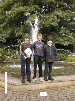 The three pupils of Fodderty Primary 7