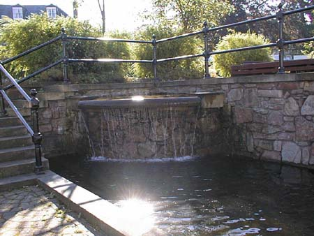 The water feature in the Square, built in the early 1990s