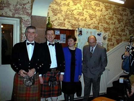 The President (Jock Watt) and principal guests