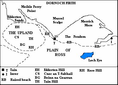 Map of the Dornoch Firth showing the local topography