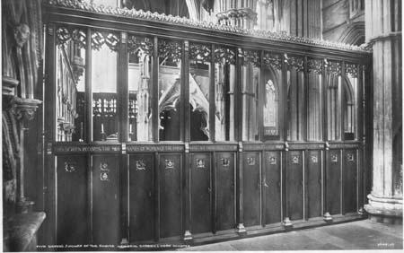 Commemorative Screen at  York Minster